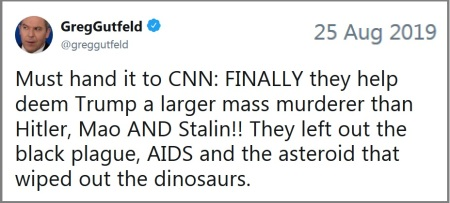 2019_08 25 Gutfeld tweet