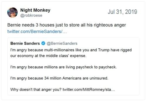 Bernie angry