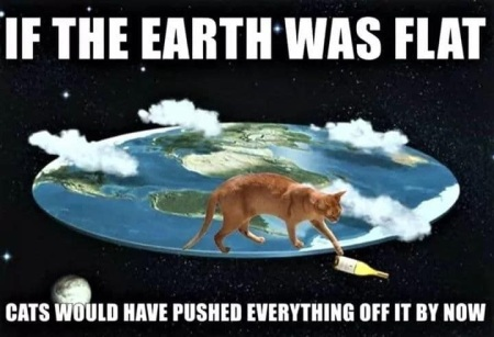 CAT if earth was flat