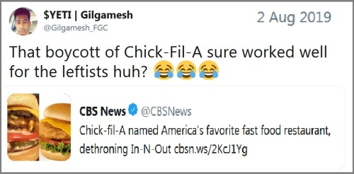 Chick-Fil-A tweet