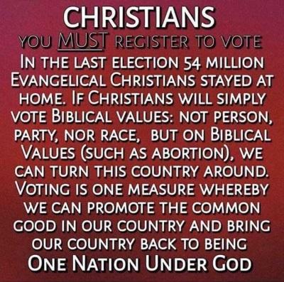 Christians vote