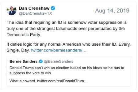 Crenshaw Bernie voter id