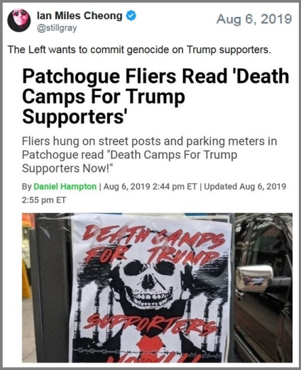 Death camps for Trump supporters