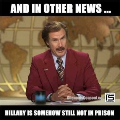 Hillary not in prison