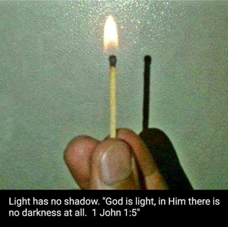 light has no shadow