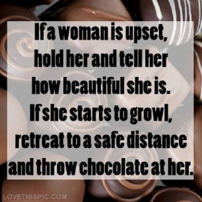 MAN WOMAN compliments and chocolate