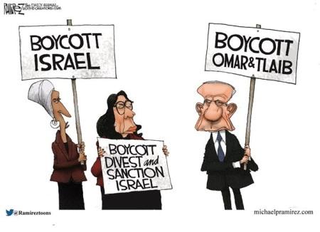 Omar Tlaib Netanyahu toon