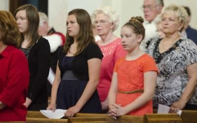 women at mass