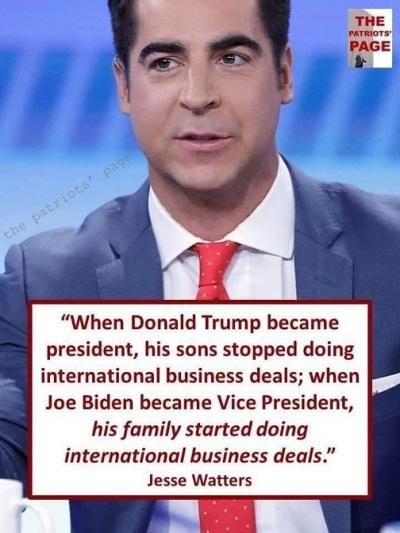 2020 Trump Biden sons