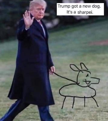 2020 TRUMP sharpie joke