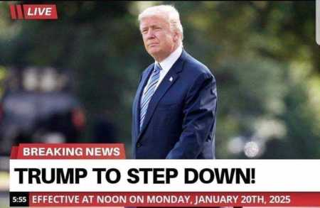 2020 Trump to step down