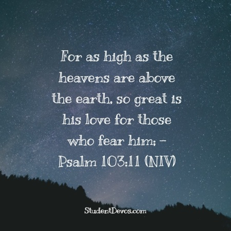 As high as the heavens
