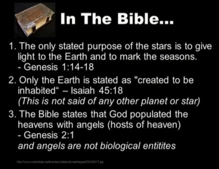 Bible on aliens