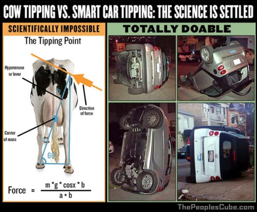 COW tipping vs Smart car tipping