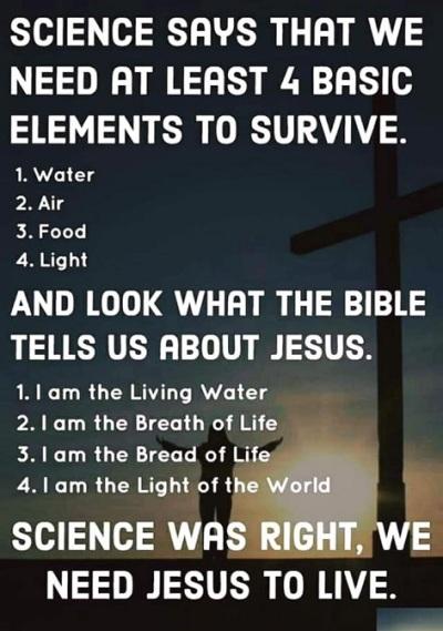 We need Jesus to live