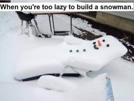 2019_11 09 Lazy snowman