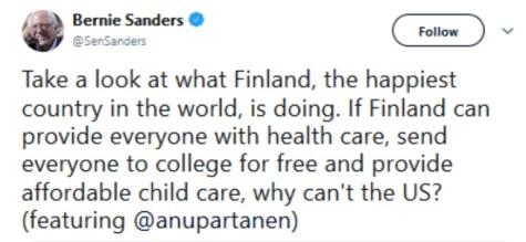 2020 Bernie Finland