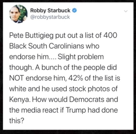 2020 buttigieg lie