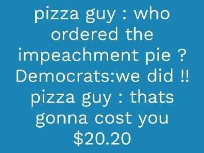2020 impeachment pizza