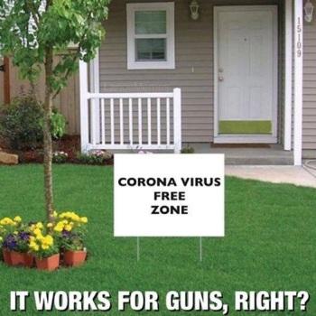 2020_03 12 coronavirus free sign