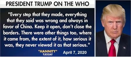2020_04 07 Trump on WHO