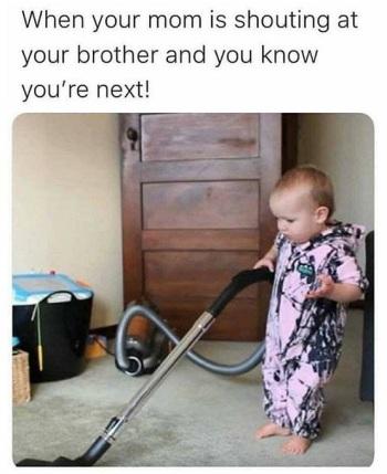 2020_07 09 baby vacuuming