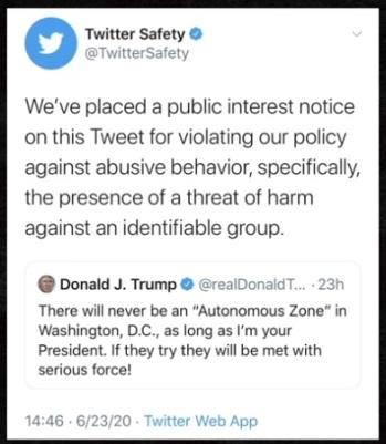 2020_07 24 Twitter blocks Trump