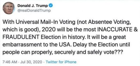 2020_07 30 Trump tweet voting