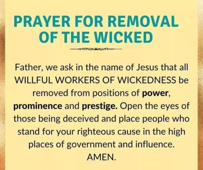 2020_08 22 Prayer for removal of wicked