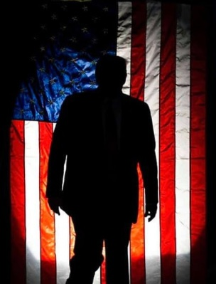 2020_08 28 TRUMP flag silhouette