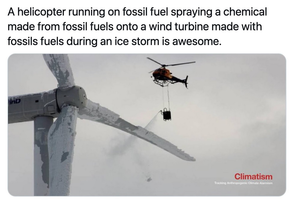 Lots of oil to sustain windmills